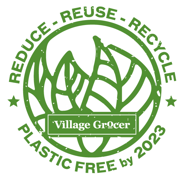 Village Grocer Plastic Bag Free Logo | Grocery Store Malaysia